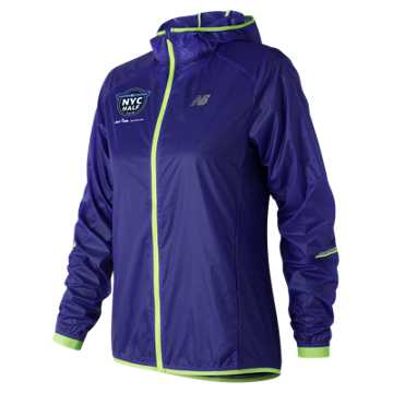 New Balance United NYC Half Ultralight Packable Jacket, Blue Iris