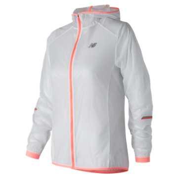 New Balance Ultralight Packable Jacket, White