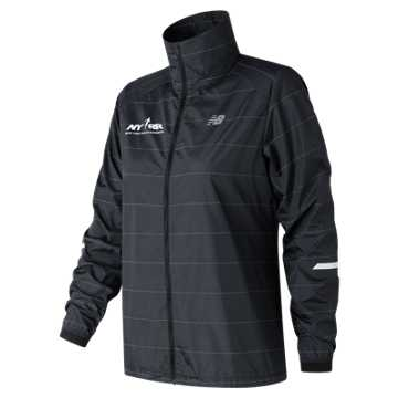 New Balance Run 4 Life Reflective Packable Jacket, Black
