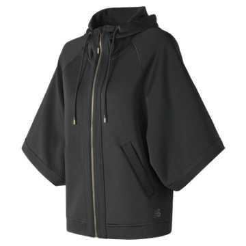 New Balance 针织外套 女款 宽松版型 舒适显瘦, BK