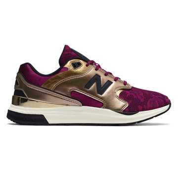 New Balance 1550系列复古鞋, 紫红色/金色