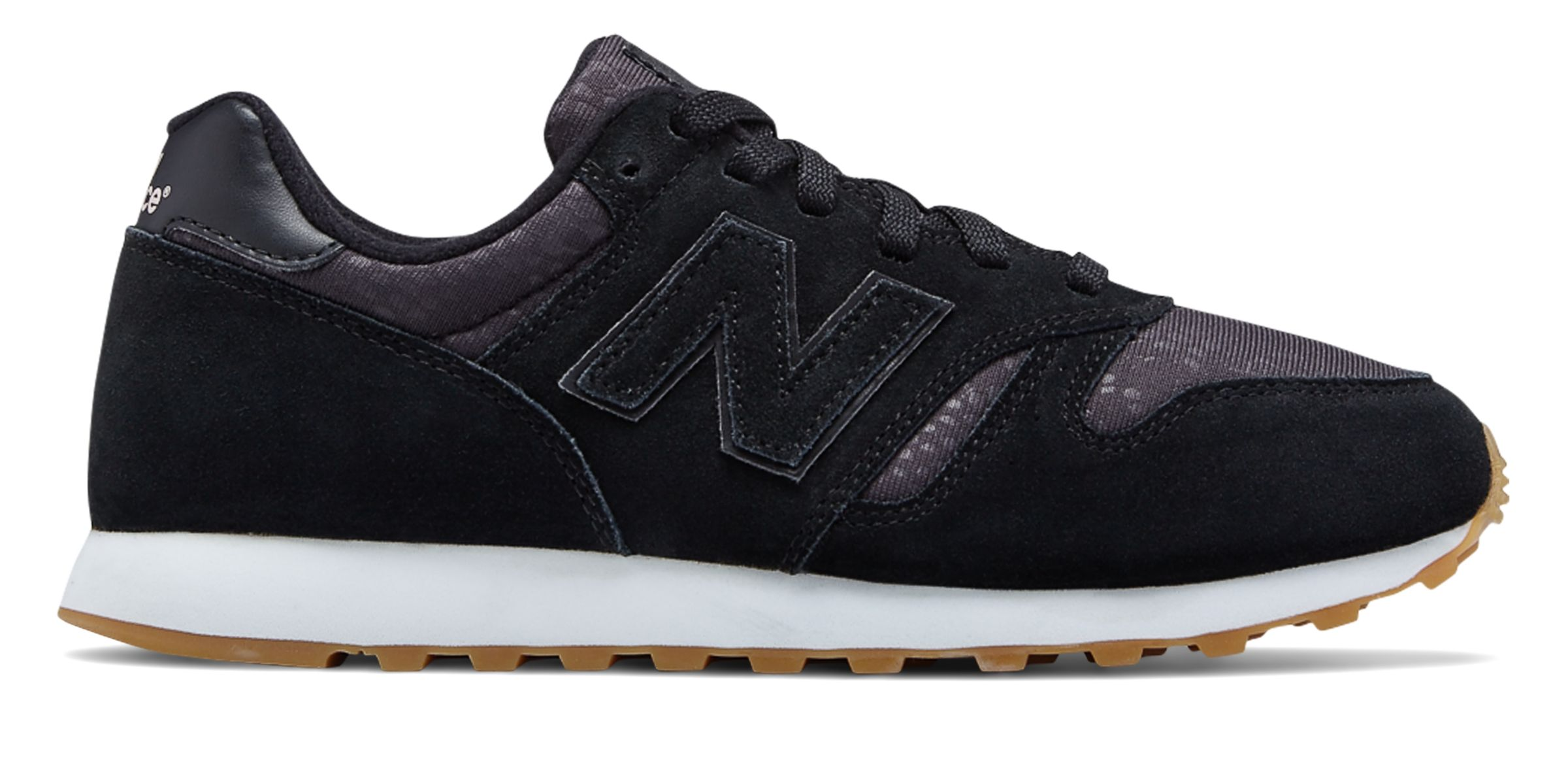 NB 373 Suede, Black with Pink