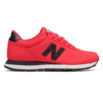 New Balance 501 Textile, Energy Red with Black