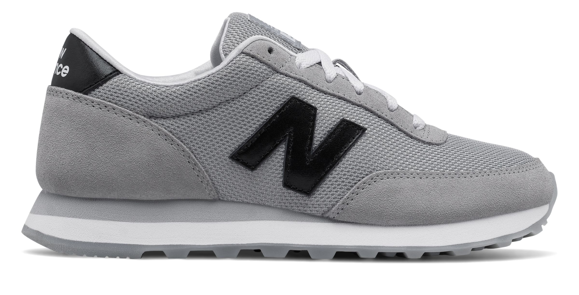 NB 501 Core, Silver Mink with Black & Pomegranate
