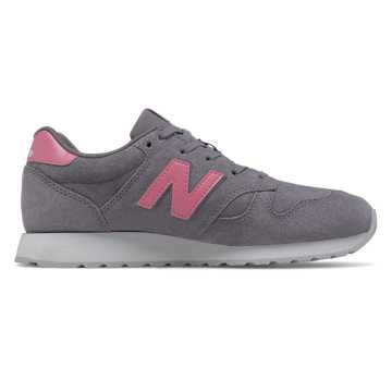 New Balance Suede 520, Grey with Pink