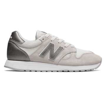 New Balance 520 New Balance, Sea Salt with Champagne Metallic