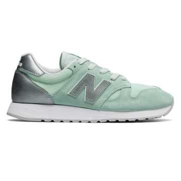 New Balance 520, Water Vapor with Metallic Silver