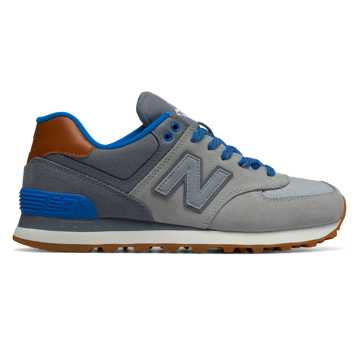 New Balance 574 Collegiate, Silver Mink with Gunmetal & Barracuda