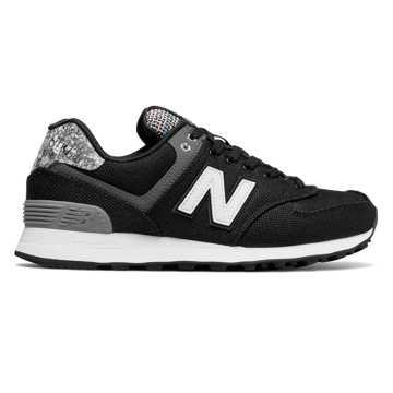 New Balance 574复古鞋  女款 避震稳定 舒适透气, 黑色