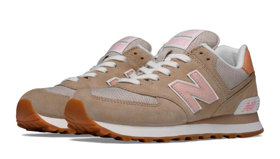 new balance 574 beige et rose femme
