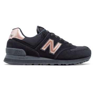 New Balance 574系列复古鞋, 黑色