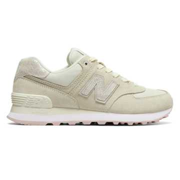 new balance women. new balance 574 shattered pearl, angora with faded rose women c