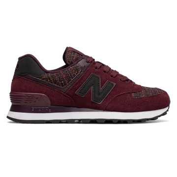 New Balance 574 Winter Nights, Chocolate Cherry with Black Rose