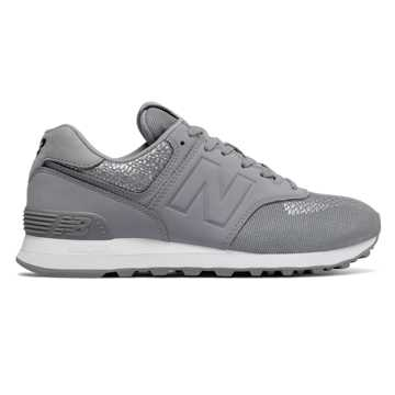 New Balance 574 Tech Raffia, Silver Grey with Steel
