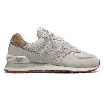 New Balance 574系列女款复古休闲运动鞋 经典复古 避震舒适, 浅灰色