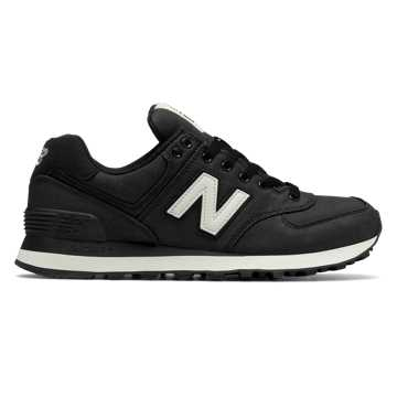 New Balance 574 Canvas, Black with Angora
