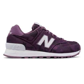New Balance 574 Camo, Kite Purple with White