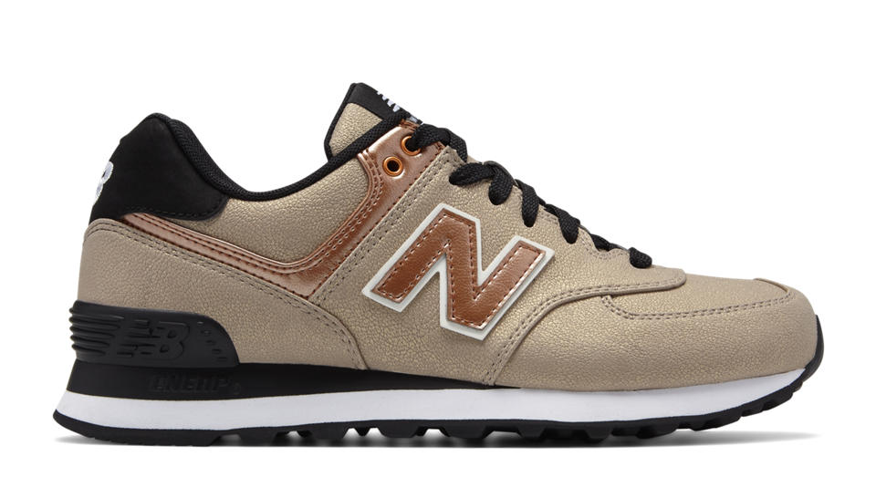 Gold New Balance Shoes