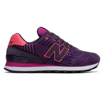 new balance 574 charcoal rose gold