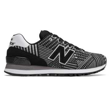 New Balance 574 Beaded, Black with White