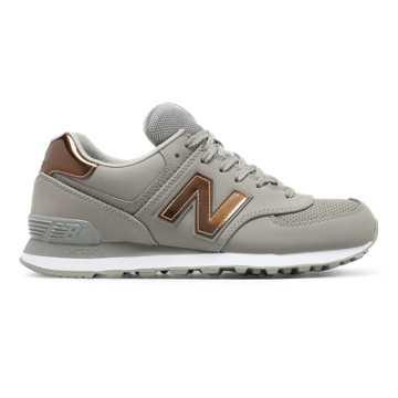 New Balance 574女子复古鞋 避震稳定 舒适透气, 灰色