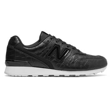 New Balance Leather 696, Black with White
