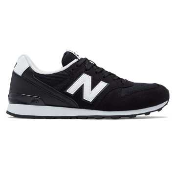 New Balance 696 New Balance, Black with White