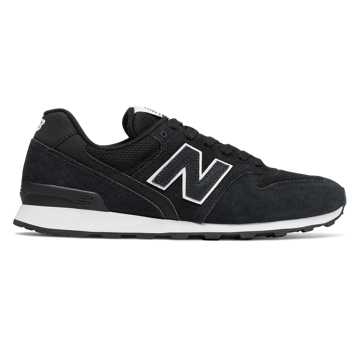New Balance 696, Black with White