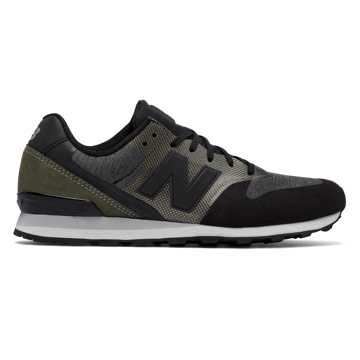 New Balance 696 Re-Engineered, Grey with Black