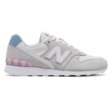 New Balance 696 New Balance, Sea Salt with White