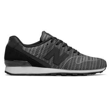 New Balance 696 Re-Engineered, Black with Cyclone