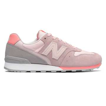 New Balance Suede 696, Sunrise Glo with Fiji
