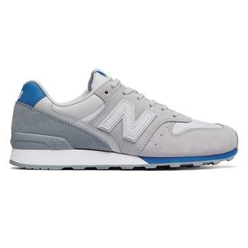 New Balance Suede 696, Light Slate with Helium