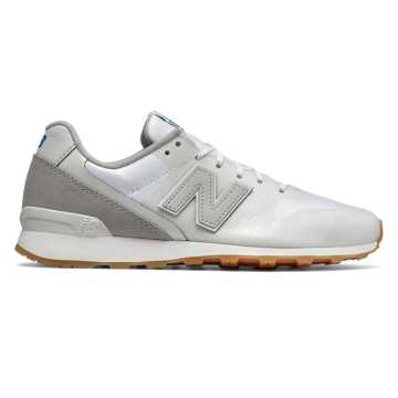 New Balance 696 Re-Engineered, White with Light Grey