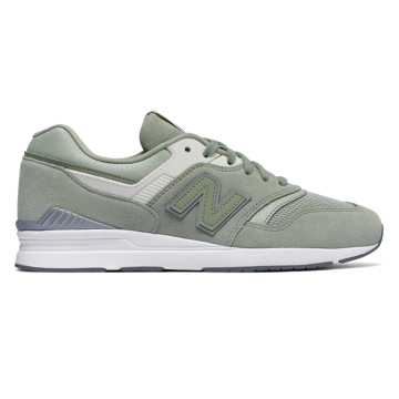 New Balance Leather 697, Silver Mint