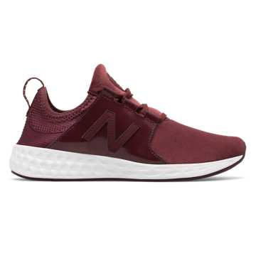 new balance womens shoes. new balance fresh foam cruz velvet, burgundy womens shoes s