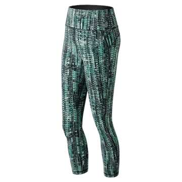 New Balance High Rise Transform Printed Crop, Tidepool