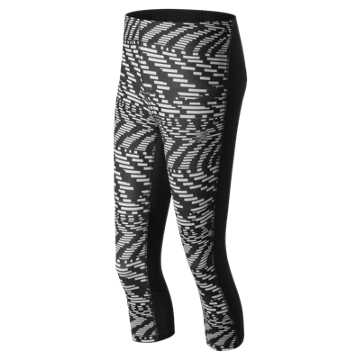 New Balance Impact Printed Capri, Speed Glitch with Black