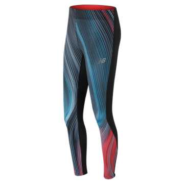 New Balance Impact Premium Printed Tight, Maldives Blue