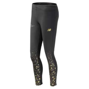 New Balance NYC Marathon Impact Premium Printed Tight, Black Multi