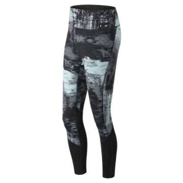 New Balance Elixir Printed Tight, Water Vapor Multi with Black