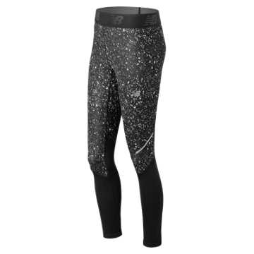New Balance Accelerate Printed Tight, Black Crystallized