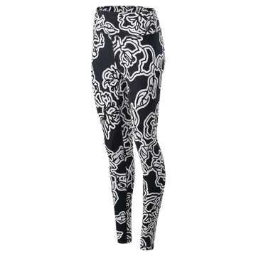 New Balance High Rise Transform Printed Tight, Black Print