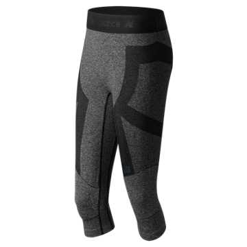 New Balance Cushflex 3 Qtr Tight, Team Black