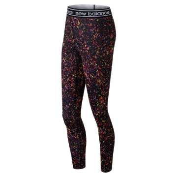 New Balance Printed Accelerate Tight, Black Multi