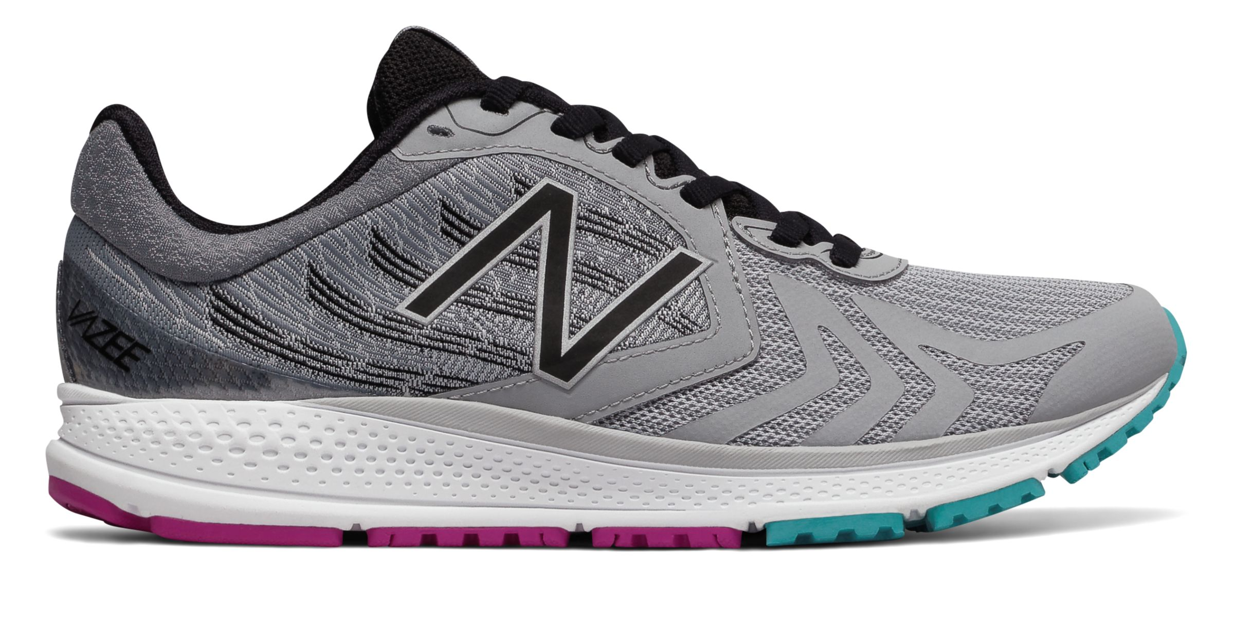 NB Vazee Pace v2, Silver Mink with Black & Poisonberry