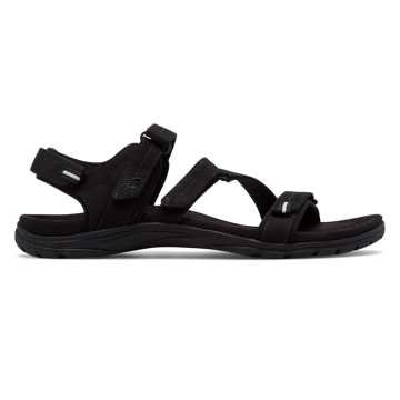 New Balance Maya Leather Sandal, Black