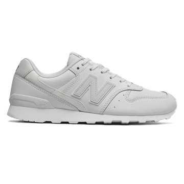 New Balance 996复古鞋 女款 稳定舒适 经典休闲, 亮白色
