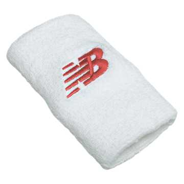 New Balance New Balance Wrist Towels, White with Red