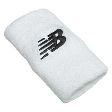 New Balance New Balance Wrist Towels, White with Black